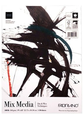 Fabriano Fabriano Mega Mixed Media Pad 9 x12