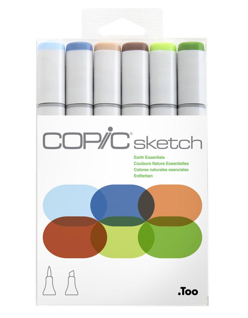 Copic Copic Sketch Marker Set Earth Essentials 6