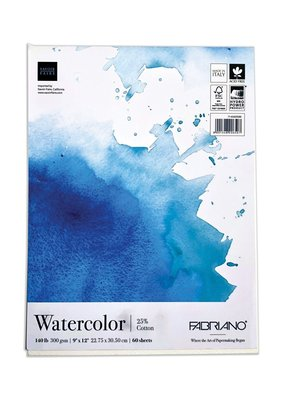 Fabriano Fabriano Watercolor Fat Pad 9 x 12 60 Sheets