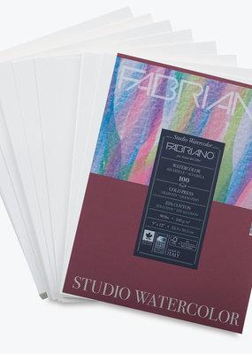 Fabriano Fabriano Studio Watercolor Pad 9 X 12 90# Cold Press 20 Sheets