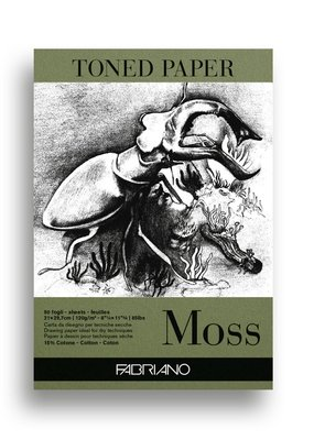 Fabriano Toned Paper Moss
