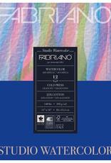 Fabriano Fabriano Studio Watercolor 11 X 14 140# Cold Press 12 Sheet Pad