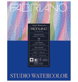 Fabriano Fabriano Studio Watercolor 11X14 140# Cold Press 12 Sheet Pad