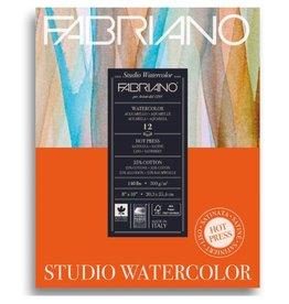 Fabriano Fabriano Studio Watercolor Pad 9 X 12 140# Hot Press 12 Sheets