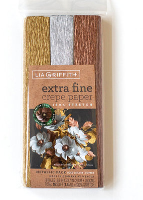 lia griffith Lia Griffith Crepe Paper 3 Pack Metallic
