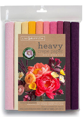 lia griffith Lia Griffith Crepe Paper 10 Pack English Garden