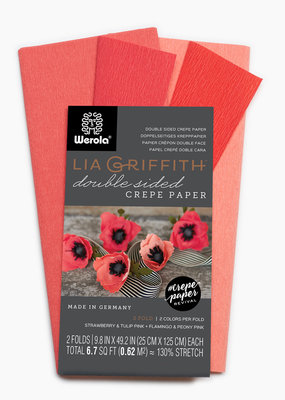 lia griffith Lia Griffith Crepe Paper 2 Pack Strawberry/Tulip + Flamingo/Peony