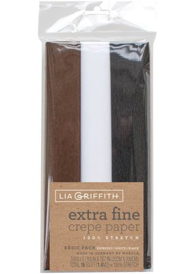 lia griffith Lia Griffith Crepe Paper 2 Pack  Espresso/White/Black