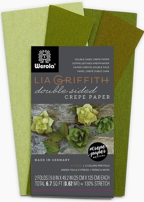lia griffith Lia Griffith Crepe Paper 2 Pack  Green Tea/ Cypress + Ferns/Moss