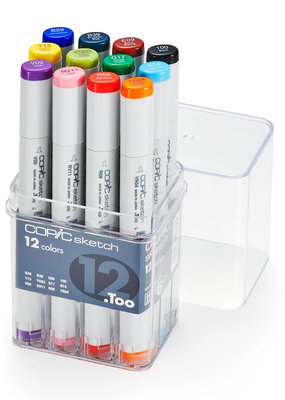 Copic Copic Sketch Marker 12 color Set Basic