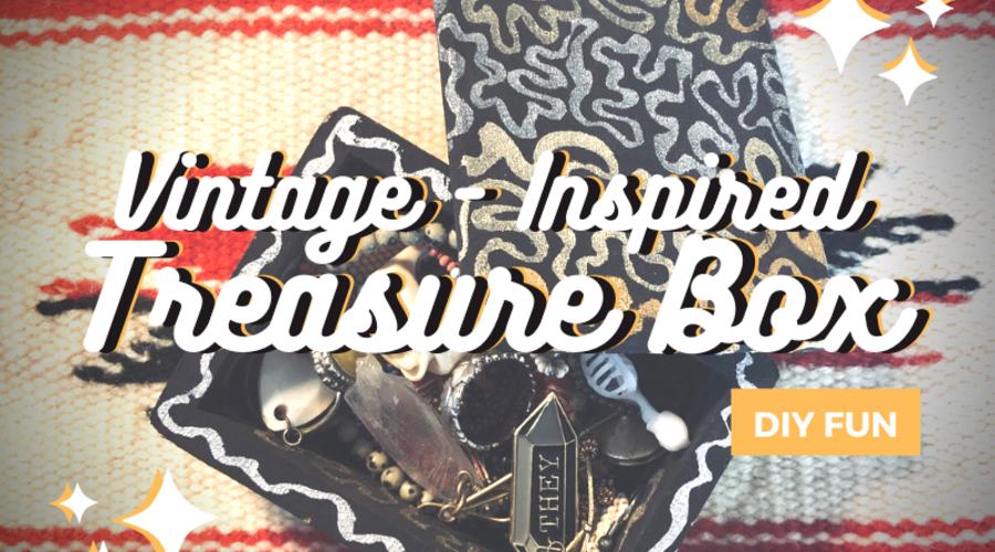 DIY: Black and Gold Vintage-Inspired Treasure Box