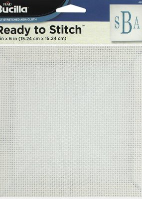 Bucilla Accessories Ready To Stitch Blank Aida 6 x 6 Inch White