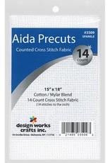 Design Works Crafts Inc. Aida Cloth 14ct 15 x 18 Sparkle