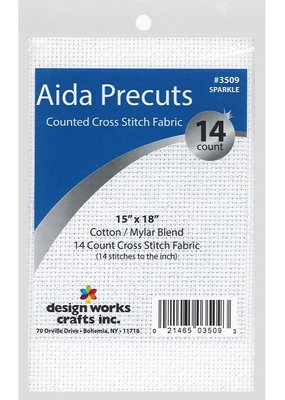 Design Works Crafts Inc. Aida Cloth 14ct 15 x 18 Sparkle