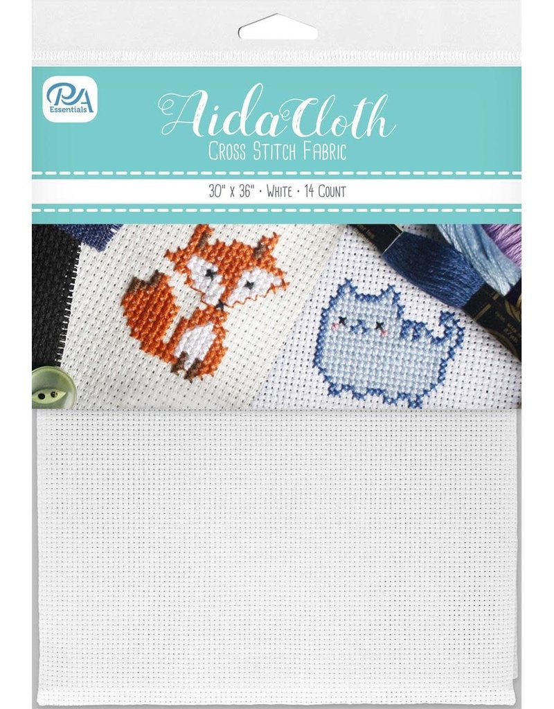 PA Essentials Aida Cloth 14ct 30 x 36 Inch White