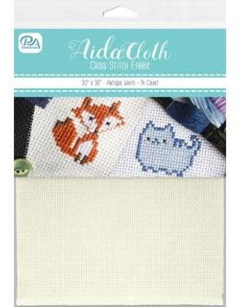 PA Essentials Aida Cloth 14ct 30 x 36 Inch Antique White