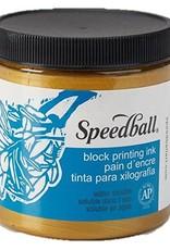 Speedball Block Print Ink Water Based Gold 8 oz