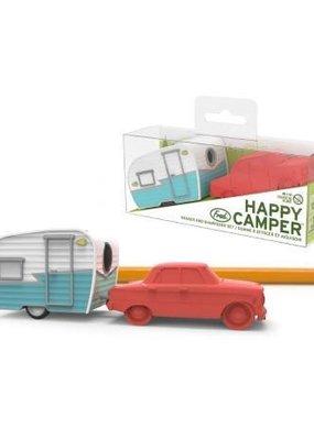 Fred Happy Camper Eraser + Sharpener