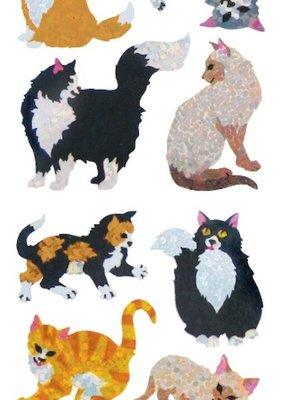 Jillson & Roberts Stickers Prismatic Cats