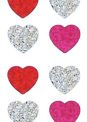 Jillson & Roberts Stickers Prismatic Mini Hearts
