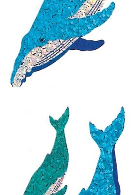 Jillson & Roberts Stickers Prismatic Humpback Whale