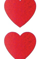 Jillson & Roberts Stickers Prismatic Large Hearts