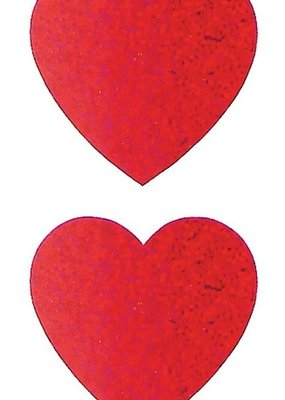 Jillson & Roberts Stickers Prismatic Large Hearts