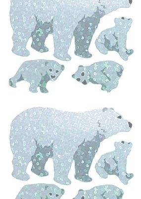 Jillson & Roberts Stickers Prismatic Polar Bears