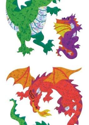 Jillson & Roberts Stickers Prismatic Colorful Dragons
