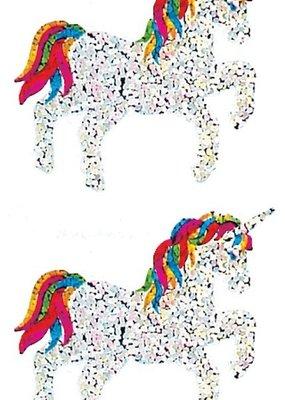 Jillson & Roberts Stickers Prismatic Unicorns Rainbow Mane and Tail