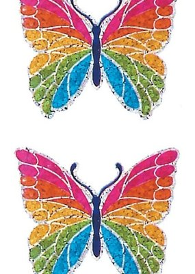 Jillson & Roberts Stickers Prismatic Rainbow Butterfly