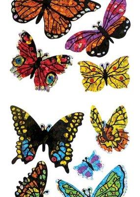 Jillson & Roberts Stickers Prismatic Assorted Butterflies
