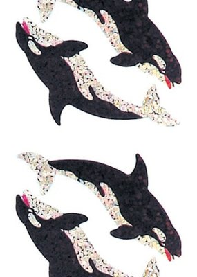 Jillson & Roberts Stickers Prismatic Killer Whales