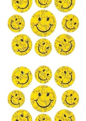 Jillson & Roberts Stickers Prismatic Micro Happy Face