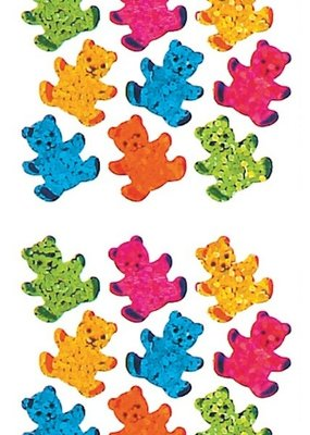 Jillson & Roberts Stickers Prismatic Micro Teddy Bears