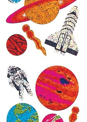 Jillson & Roberts Stickers Prismatic Planets
