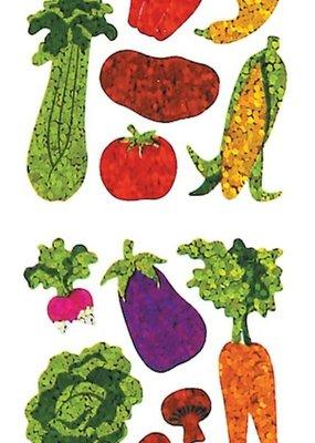 Jillson & Roberts Stickers Prismatic Mini Vegetables