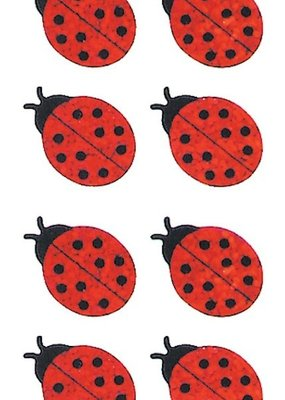 Jillson & Roberts Stickers Prismatic Mini Lady Bugs