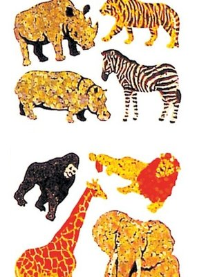 Jillson & Roberts Stickers Prismatic Safari Animals