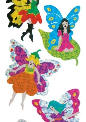 Jillson & Roberts Stickers Prismatic Assorted Fairies