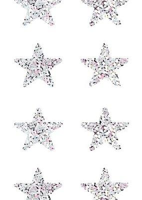 Jillson & Roberts Stickers Prismatic Mini Silver Stars