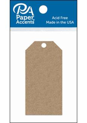 Paper Accents Craft Tags Brown Bag 1.625 x 3.25