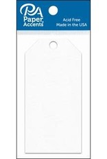 Paper Accents Craft Tags 2.125x4.25 25pc White