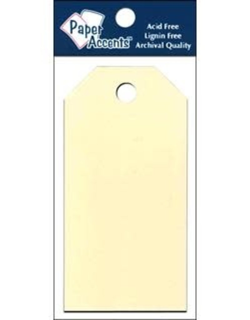 Paper Accents Craft Tags Manila 1.625 x 3.25