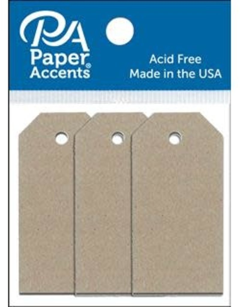 Paper Accents Craft Tags Recycled Kraft .0875 x 1.75