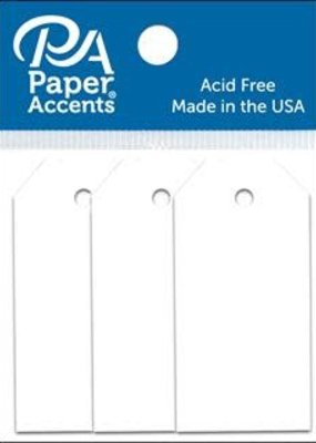 Paper Accents Craft Tags White .0875 x 1.75