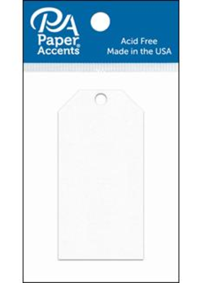 Paper Accents Craft Tags White 1.625 x 3.25