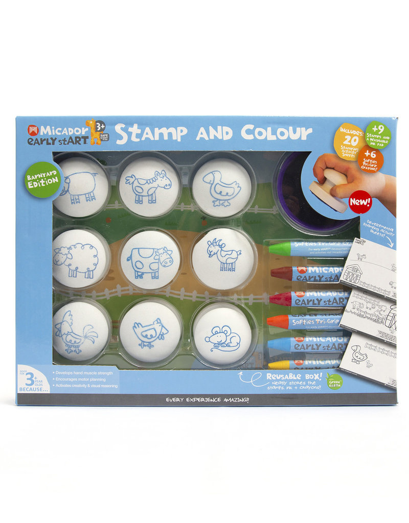 Micador Stamp & Color Barnyard Pack