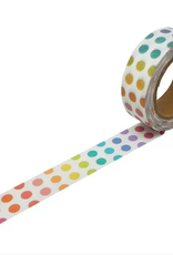 Beve Washi Rainbow Polka Dot