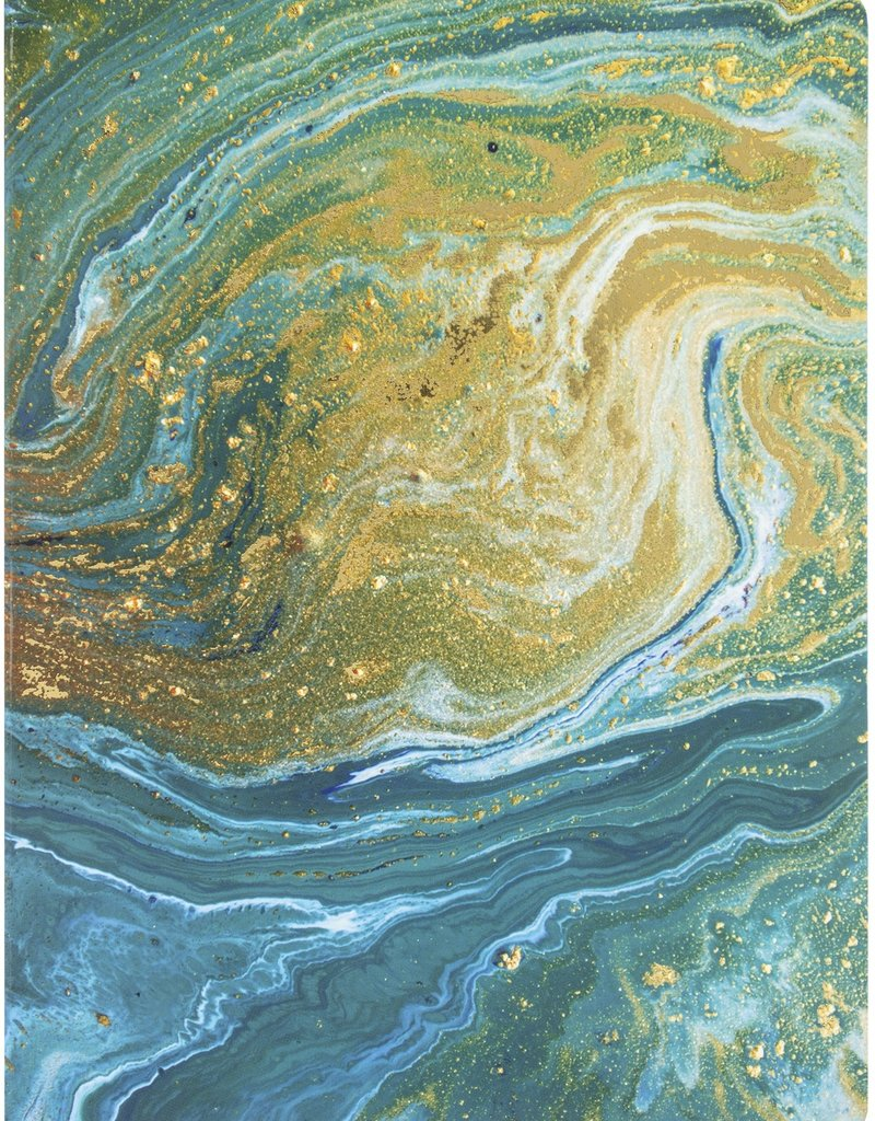 Paper House Journal Teal Marble